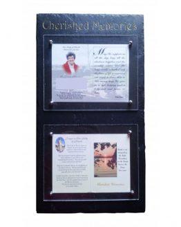 Natural Slate Memorial Card Frame