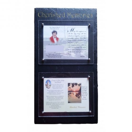 Natural Slate Memorial Card Frame
