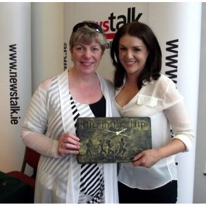 Charity Gift presented to Sile Seoige