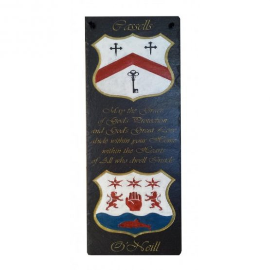 Family Crest and Housewarming Blessing Plaque