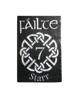 Failte (Welcome) Natural Slate Wall Plaque