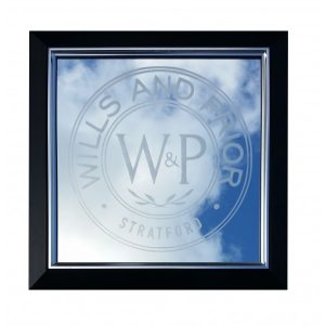 Business Logo Engraved Mirror