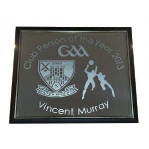Business Logo Slate Clock